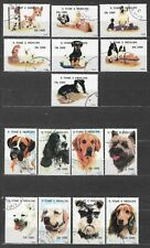 Pets small lot of used stamps Dogs Saint Thomas and Prince São Tomé e Príncipe