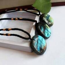 Natural Labradorite Pendant Charms Crystal Pendant Necklace Healing Stone