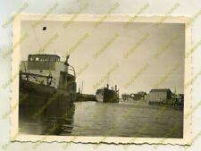 Foto, Wehrmacht, Blick in den Hafen von Stolpmünde, Polen, b 21036