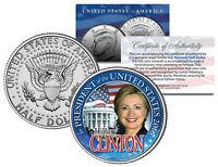 HILLARY CLINTON FOR PRESIDENT US 2016 Campaign JFK Half Dollar Coin WHITE HOUSE
