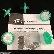 Pall Acrodisc 25mm Syringe filter 5um Versapor membrane x 5  4489T