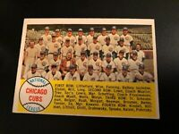 1958 Topps #327 Chicago Cubs Checklist