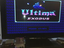 Exodus Ultima Nes Game 1985  with manual -tested Very Good