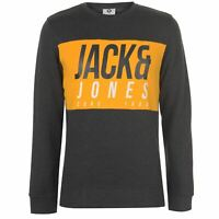 Jack and Jones Mens Crew Jonah Sweater Jumper Pullover Neck Print