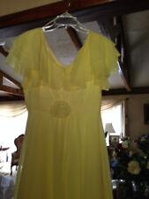 Prom Dress (Long)- Yellow- size 14