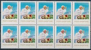[P15328] Albania 1993 : Pope - 10x Good Very Fine MNH Stamp in Block