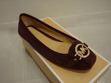 NIB Women Michael Kors Fulton Suede Flats Shoes Plum Size 8