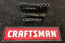 "NEW Craftsman 24 Piece 1/4"" Drive 6 Point Deep & Short Metric Socket Set SAE MM"
