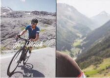 CYCLISME carte cycliste dépliante JAN ULLRICH  cycling