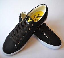 NEW LYLE & SCOTT Pumps Deck Shoes Flats Black Canvas, White Rim UK Sz 8 - EU 42
