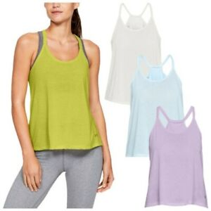 Under Armour Ladies Whisperlight Tank Top UA Gym Training Running Yoga Vest