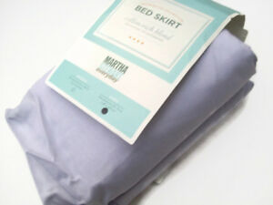 Martha Stewart Everyday Mix Match Pale Wisteria Purple King Bedskirt Bed Skirt