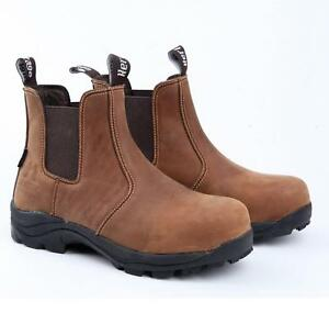 """XPERT Heritage """"Dealer"""" Safety Boots (Crazy Horse Brown)"""
