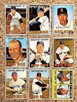 Lot of 9 1967 Topps BOSTON RED SOX vintage cards Reggie Smith RC Tony Conigliaro