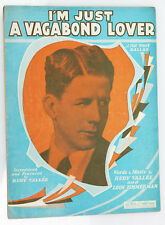 """I'm Just A Vagabond Lover"" 1929 Vintage Sheet Music Fox Trot Ballad Ukulele"