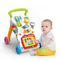 2 in 1 Baby Gehfrei Lauflernwagen Walker Early Learning Lauflernhilfe Gehhilfe