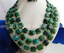 """3 Strands 18-20"""" 14MM Malachite Green Baroque Freshwater Pearl Necklace"""