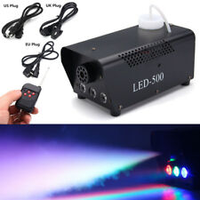 RGB LED Wireless Smoke Fog Machine 500W Stage DJ Disco Party Club Fogger Remote