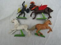JOB LOT VINTAGE BRITAIN'S DEETAIL HORSES AND X1 FIGURE