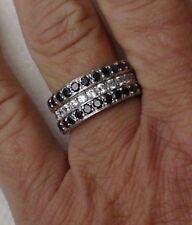 BANDRING Silberring Fingerschmuck Schmuckring FINGERRING Damenring Zirkonia ONYX