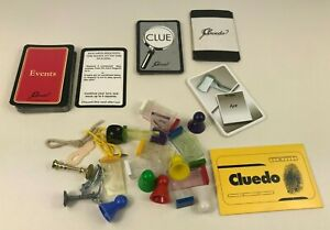 Cluedo Board Game Replacement Spare Parts Cards Pieces Weapons Movers Board
