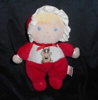 "8"" PRESTIGE BLONDE BABY DOLL CHRISTMAS REINDEER RATTLE STUFFED ANIMAL PLUSH TOY"