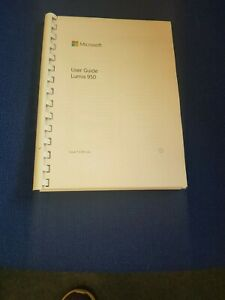 MICROSOFT LUMIA 950 FULLY PRINTED INSTRUCTION MANUAL USER GUIDE 136 PAGES