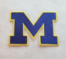 Michigan Wolverines 3 1/2 inchIron on Embroidered Applique Patch