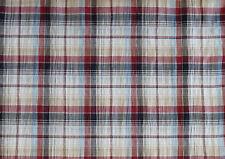 (EUR 15,90/m) Baumwolle Karo mit Lurex Blau Weiß Rot 0,50m x 1,40m (Art 1047)