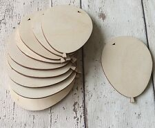 set of 10 quality laser cut wooden 8cm balloons unpainted embellishments tags