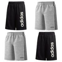 Adidas Boys Shorts Essentials Kids Football Training Fleece Cotton Size Black