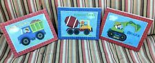 Sapna Bedroom Wall Art 13x10 Lot of 3 Bears driving Cement/Dump/Digger pix H197