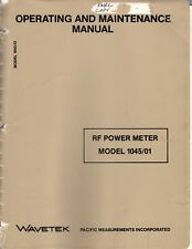 Original Wavetek RF Power Meter Model 1045/1 Operating & Maintenance Manual