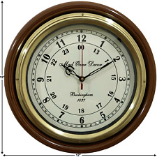 VINTAGE COLLECTIBLE HANDCRAFTED BRASS ROUND BUCKINGHAM HOME DECOR WALL CLOCK