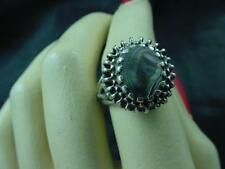 Vintage Beautifully Set Abalone Shell Sterling Silver  Ring Size 4  #1902