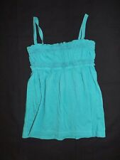 Girls GAP KIDS Teal Blue with Removable and Strap Built-in Bra Tank Top Size S