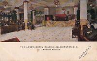 Postcard Lobby Hotel Raleigh Washington DC