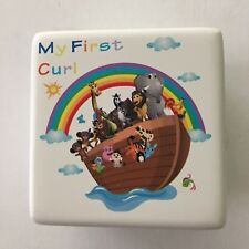 "Baby Curl Keeper Box Noah's Ark Illustration 2.25"" Square Unisex New"