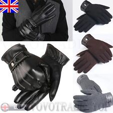 LUXE HOMMES hiver chaud simili cuir gants cachemire doigt complet Route mitaines