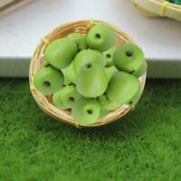 Puppenhaus Miniatur 1:12 Spielzeug Küche Lebensmittel auf Metallplatte Früc K4R9