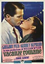 ROMAN HOLIDAY Movie POSTER 27x40 Italian B Audrey Hepburn Gregory Peck Eddie