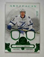 2017-18 17-18 UD Artifacts Material Emerald #59 Jonathan Drouin /65