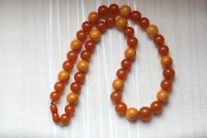Baltic Amber beads 70 gr natural butterscotch Necklace 天然琥珀石多色生