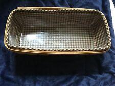 Longaberger 2005 Bread Basket W Plastic Insert And Blue Checked Liner Ec