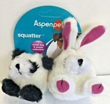 Aspen Pet Squatter Panda/ Rabbit Small Squeaker Dog Toy Set