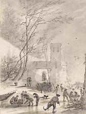 Hendrik van der Straaten neerlandés patinadores fuera de la ciudad de pared ilustraciones impresión bb5604a