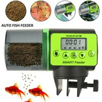Automatic Fish Food Feeder Timer Aquarium Tank Pond Auto Feeding Dispenser 200ML