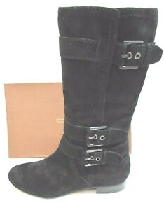 Coach Size 5 Black Leather Boots New Womens Shoes