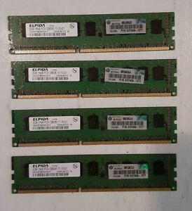 Lot Of 4 Elpida2GB PC3-12800E-11-10-d1 DDR3 1333MHz Desktop Mmry 1238gl940620 s2