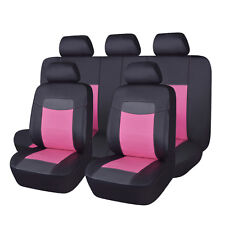PU leather Car seat covers set universal low back bench split 40/60 50/50 60/40